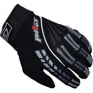 MX rukavice na moto Pilot černé