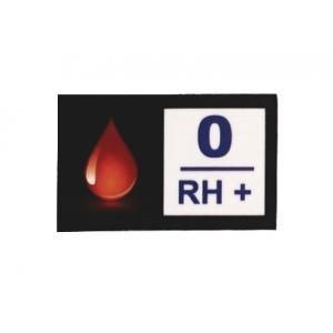 Nálepka s krevní skupinou 0 RH+