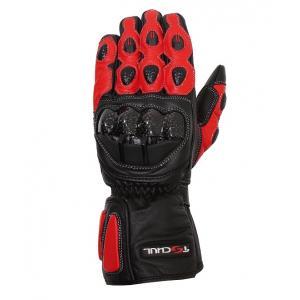 Rukavice na moto Tschul 230 černo-červené