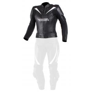 Dámská bunda na motorku RSA Destiny 2 černo-bílá