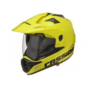 Enduro přilba na moto Cassida Tour fluo žlutá