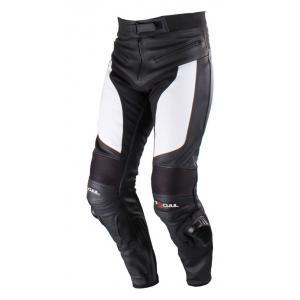 Kalhoty na motorku Tschul M-60 černo-bílé