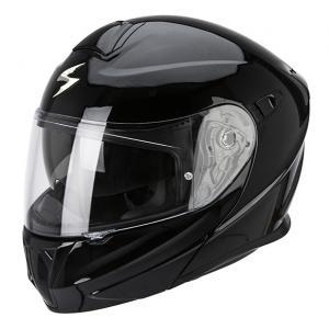 Přilba na motorku vyklopná Scorpion EXO-920 černá lesklá
