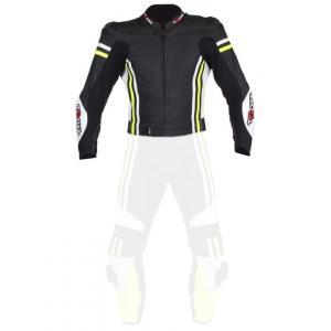 Pánská bunda Tschul 555 černo-bílo-fluo žlutá