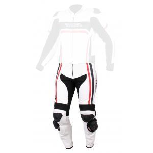Pánské kalhoty na motorku RSA Virus bílo-černo-červené výprodej
