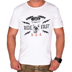 Triko RSA Ride Fast bílé