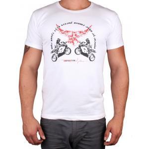 Triko s motivem Motozem Angel bílé