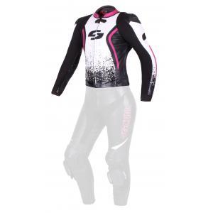Dámská bunda Tschul 586 černo-bílo-růžová