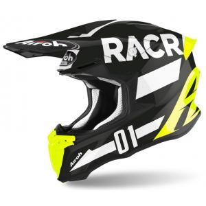 Motokrosová přilba Airoh Twist Racr černo-bílo-fluo žlutá