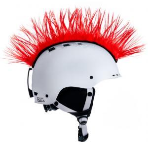 Číro na helmu Mohawk červené