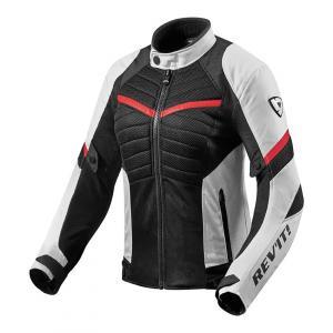 Dámská bunda na motorku Revit Arc Air bílo-červená výprodej