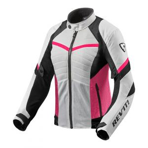 Dámská bunda na motorku Revit Arc Air bílo-růžová výprodej