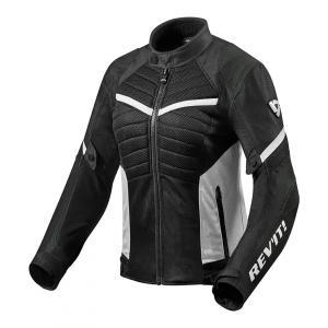 Dámská bunda na motorku Revit Arc Air černo-bílá výprodej