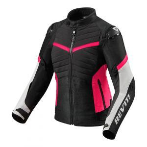 Dámská bunda na motorku Revit Arc H2O černo-růžová výprodej