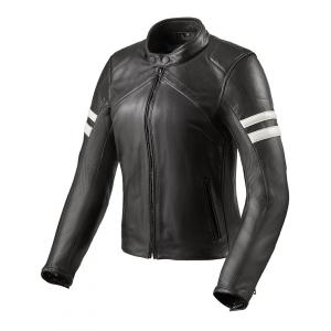 Dámská bunda na motorku Revit Meridian černo-bílá výprodej