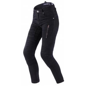 Dámské jeansy na motorku Street Racer Stretch II CE černé