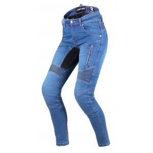 Dámské jeansy na motorku Street Racer Stretch II CE modré