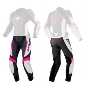 Dámské kalhoty na motorku Shima Miura 2.0 černo-bílo-fluo růžové