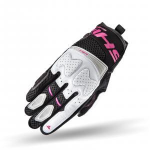 Dámské rukavice na motorku Shima Blaze černo-bílo-růžové