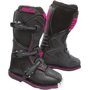 Dětské boty na motorku Shot K10 2.0 černo-růžové výprodej