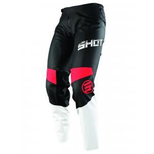 Dětské motokrosové kalhoty Shot Devo Slam černo-bílo-červené