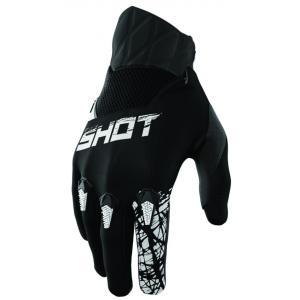 Dětské motokrosové rukavice Shot Devo Slam černé