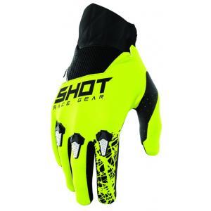 Dětské motokrosové rukavice Shot Devo Storm černo-bílo-fluo žluté