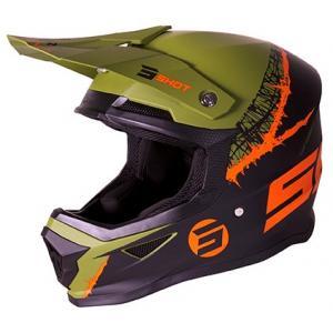 Motokrosová přilba Shot Furious Storm černo-zeleno-oranžová výprodej