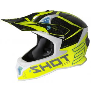 Motokrosová přilba Shot Lite Core černo-bílo-fluo žlutá výprodej