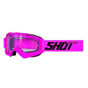 Motokrosové brýle Shot Assault Solid fluo růžové