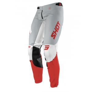 Motokrosové kalhoty Shot Aerolite Airflow šedo-bílo-červené