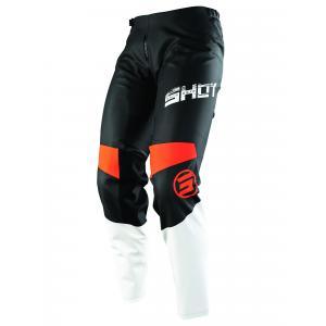 Motokrosové kalhoty Shot Devo Slam černo-bílo-oranžové
