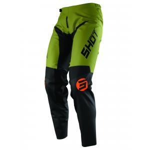 Motokrosové kalhoty Shot Devo Storm černo-khaki zelené