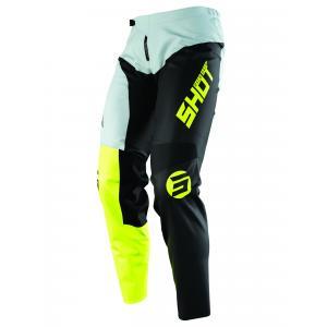 Motokrosové kalhoty Shot Devo Storm černo-šedo-fluo žluté