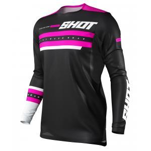 Motokrosový dres Shot Contact Shining černo-růžový