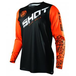 Motokrosový dres Shot Devo Slam černo-bílo-oranžový