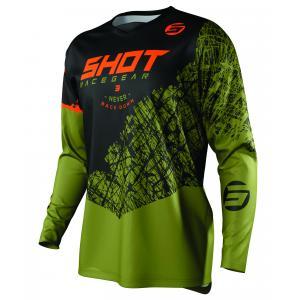 Motokrosový dres Shot Devo Storm černo-khaki zelený
