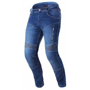 Prodloužené jeansy na motorku Street Racer Basic II CE modré