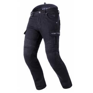Prodloužené jeansy na motorku Street Racer Cargo CE černé
