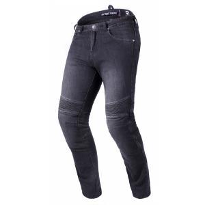Prodloužené jeansy na motorku Street Racer Warior CE černé