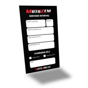 Servisní štítek MotoZem