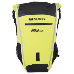 Vodotěsný batoh Oxford Aqua B25 černo-fluo žlutý 25 l