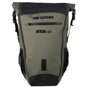 Vodotěsný batoh Oxford Aqua B25 černo-khaki zelený 25 l