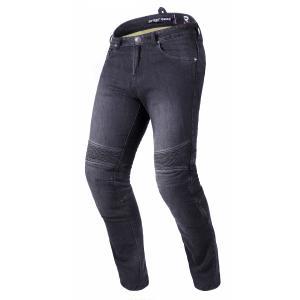 Zkrácené jeansy na motorku Street Racer Spike II CE černé