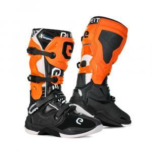Boty na motorku Eleveit X-Legend černo-oranžovo-bílé
