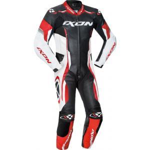 Dětská kombinéza na motorku IXON Vortex černo-bílo-červená