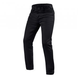 Jeansy na motorku Revit Jackson černé prodloužené výprodej