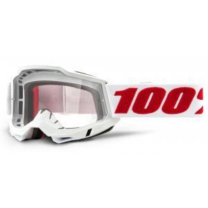 Motokrosové brýle 100% ACCURI 2 bílé (čiré plexi)