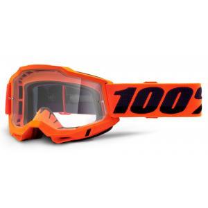 Motokrosové brýle 100% ACCURI 2 OTG oranžové (čiré plexi)