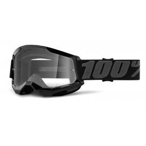Motokrosové brýle 100% STRATA 2 černé (čiré plexi)